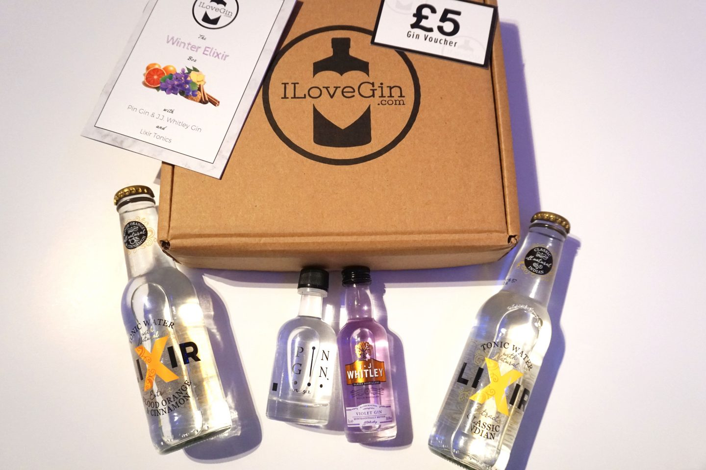 A girls night in with an I Love Gin box